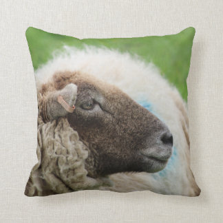 Mother Sheep Throw Pillow