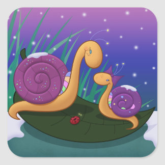 Mother Snail and Tilly Square Sticker