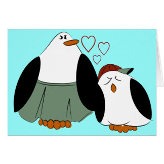 Mother Son Penguins Birthday Card