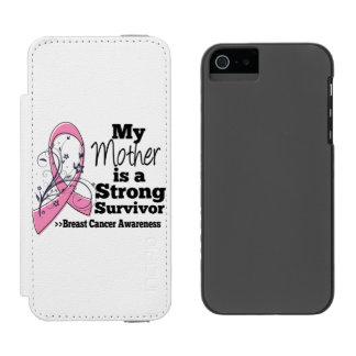 Mother Strong Survivor Breast Cancer Incipio Watson™ iPhone 5 Wallet Case