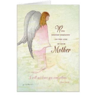 Mother Sympathy Angel Card