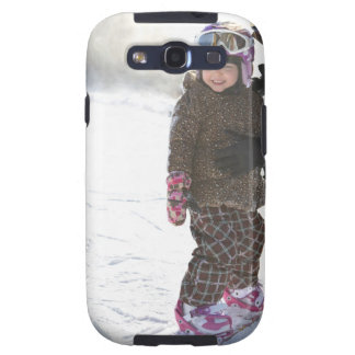 Mother Teaching Daughter To Snowboard Galaxy S3 Cover
