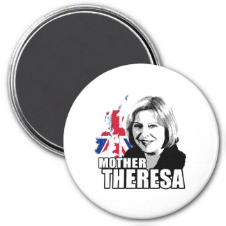 Mother Theresa May - 3 Inch Round Magnet