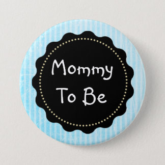Mother to be blue dots Baby Shower Button