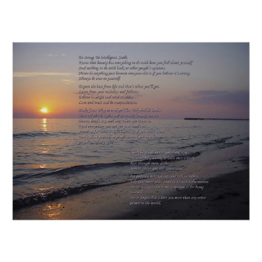Mother To Daughter advice on Sunset Beach poster