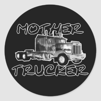 MOTHER TRUCKER - BLACK & WHITE STICKERS