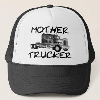MOTHER TRUCKER - BLACK & WHITE TRUCKER HAT