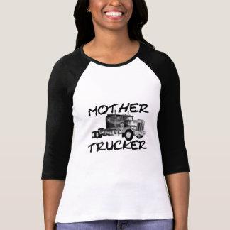 MOTHER TRUCKER - BLACK WHITE T SHIRTS