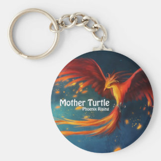 Mother Turtle Products Basic Round Button Keychain