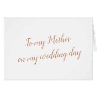 Mother Wedding Card