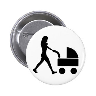 mother with baby in buggy icon pins