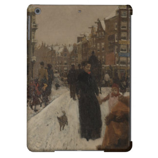 Mother with Child and Dog Impressionist Painting i iPad Air Case
