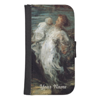 """""""Mother with Child"""" custom wallet cases Galaxy S4 Wallet"""