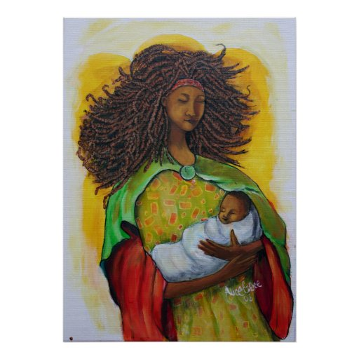 Mother with Child Poster