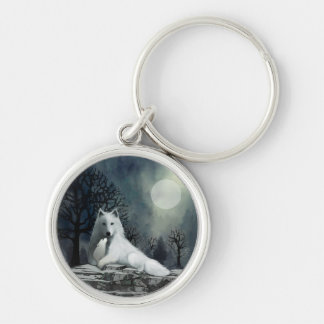 Mother Wolf with Puppy Key Chains