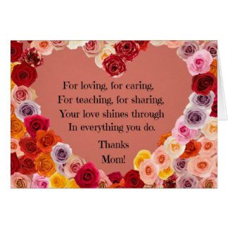 Mother: Your love shines through... Greeting Card