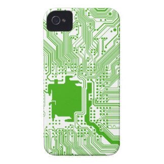 motherboard computer circuit - green & white Case-Mate iPhone 4 case