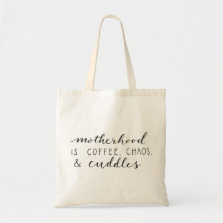 Motherhood Is... Canvas Tote Bag