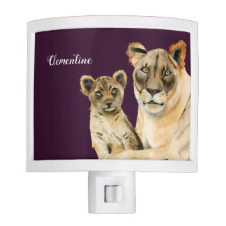 Motherhood | Lioness and Cub | Add Your Name Night Lights