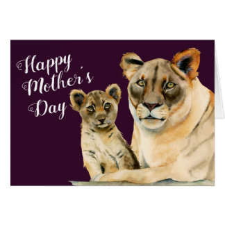 Motherhood | Lioness and Cub Mother's Day Card