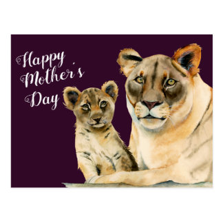 Motherhood | Lioness and Cub Mother's Day Postcard