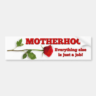 MOTHERHOOD RED ROSE PROLIFE BUMPERSTICKER BUMPER STICKER
