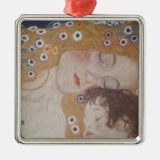 Motherhood Silver-Colored Square Ornament