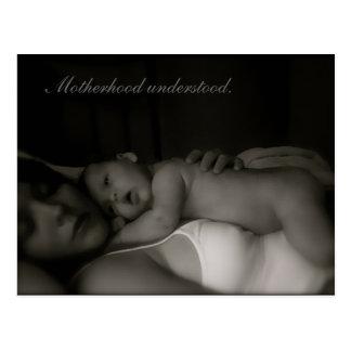 Motherhood understood. postcard