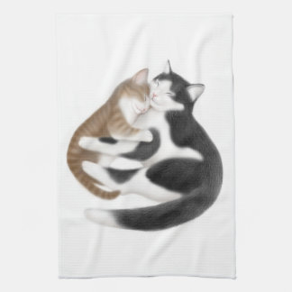 Motherly Love Cats Kitchen Towel