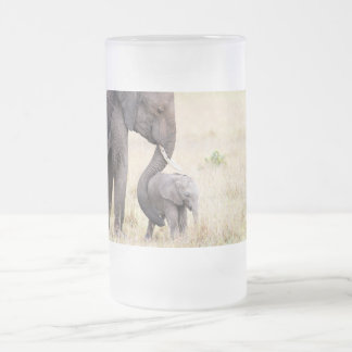 Motherly love frosted glass beer mug