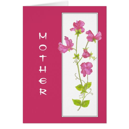 Mother's Birthday Flower in our Garden Sweet Pea Card