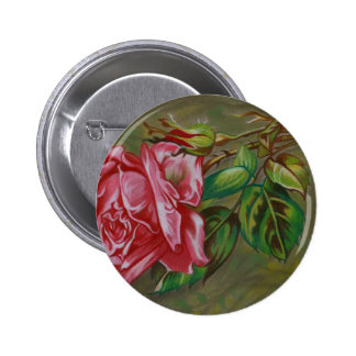 Mother's Dar Rose Flower 2 Inch Round Button