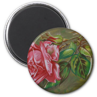 Mother's Dar Rose Flower 2 Inch Round Magnet