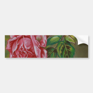 Mother's Dar Rose Flower Bumper Sticker