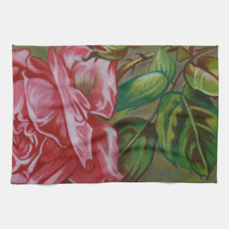 Mother's Dar Rose Flower Hand Towels