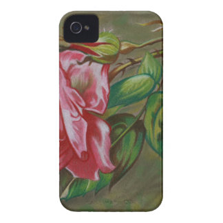 Mother's Dar Rose Flower iPhone 4 Case-Mate Case