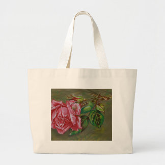 Mother's Dar Rose Flower Large Tote Bag