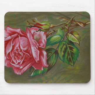 Mother's Dar Rose Flower Mouse Pad