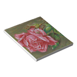 Mother's Dar Rose Flower Notepads
