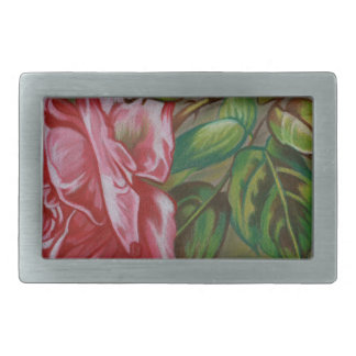 Mother's Dar Rose Flower Rectangular Belt Buckles