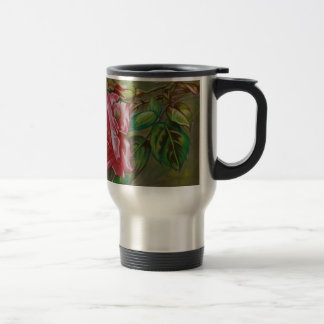 Mother's Dar Rose Flower Travel Mug