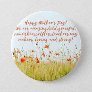 Mother's Day 3 Inch Round Button