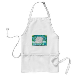 Mother's Day - ADD YOUR PHOTO - Blue Fantasy Aprons