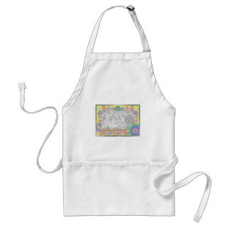 Mothers Day - ADD YOUR PHOTO - Spring Flowers Standard Apron