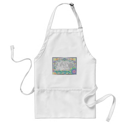 Mothers Day - ADD YOUR PHOTO - Spring Flowers Aprons