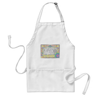 Mothers Day ADD YOUR PHOTO Spring Flowers Standard Apron