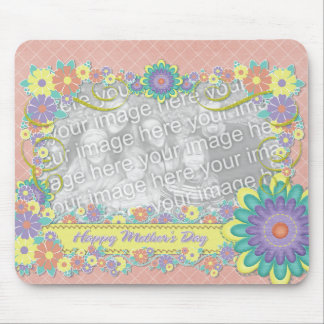 Mothers Day - ADD YOUR PHOTO - Spring Flowers Mouse Pad