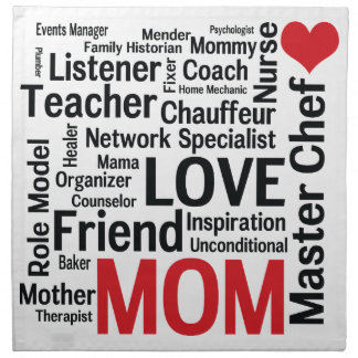 Mother's Day Amazing Multi-talented Super Mom Napkin