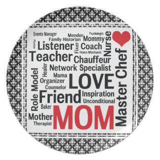 Mother's Day Amazing Multi-talented Super Mom Plate