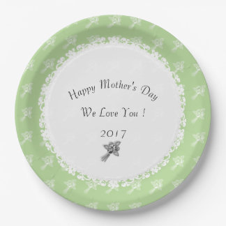 Mother's-Day--Anniversary-Template_Roses-Green Paper Plate